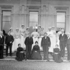 Group of servants in Curraghmore House Co. Waterford