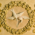 Detail of doves on the drawing room ceiling